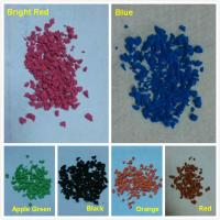 Buy cheap Colorful EPDM rubber granules powder for rubber flooring surface from wholesalers