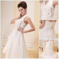 Beautiful Big White Bowknot V-Neckline Prom Dresses 2012 Manufactures