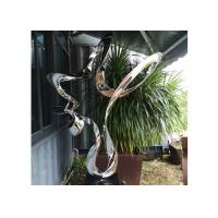 Buy cheap 80cm Abstract Polished Stainless Steel Sculpture In Stock Wangstone Design from wholesalers
