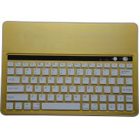 Buy cheap Yellow Aluminum Slim Bluetooth Keyboard With Stand for different size tablet, Bluetooth Keyboard with Island-Style keys from wholesalers