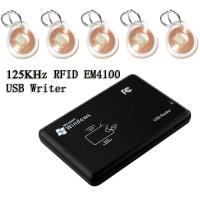 Buy cheap Access USB 125KHZ EM ID RFID Proximity Card Reader Connect PC For EM4100/4200 from wholesalers