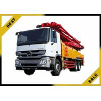Buy cheap Sany 37 Meter Concrete Crane Truck Open Circuit , Mounted Concrete Pump Smart Control from wholesalers