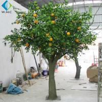Wholesale Fiberglass Trunk Artificial Fruit Tree , Indoor Decoration Fake Orange Tree from china suppliers