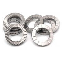 Buy cheap Zinc Plate Surface Double Fold Steel Flat Washers / Wedge Lock Washer DIN25201 from wholesalers
