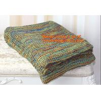 Buy cheap Colourful Knitted Blanket Wholesale China Factory Blanket Spain from wholesalers
