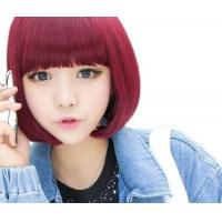 Short Straight Bangs Synthetic Hair Bob Wig Manufactures