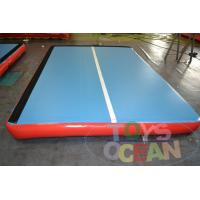 China DWF Outside Airtight  Gymnastics Air Track Blue For Training 3X2X0.2M on sale