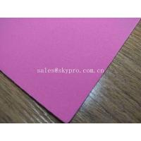 Buy cheap 1mm Thick High Elastic Pink SBR Thin Neoprene Fabric EVA with Polyester Jersey Coating Rubber Sheet from wholesalers
