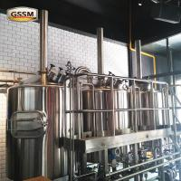 Direct Fired Commercial Beer Brewing Equipment With Combi - Tank / Kettle Whirlpool Tun Manufactures