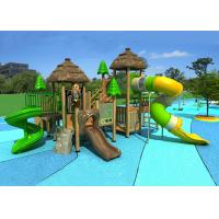 Buy cheap wooden playground outdoor kids slides, small size wood amusement park playground from wholesalers