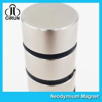 China Thick Disc Industrial Neodymium Magnets Large Size Zinc Nickel NiCuNi Coating on sale