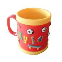 Wholesale cute food grade silione 8*8 tea/coffee Mug with customized design for promotion from china suppliers
