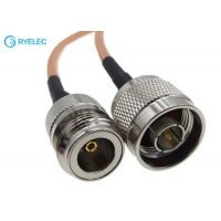 Buy cheap RG142 Double Shielded FEP Jacket RF Coaxial Cable With N Male To N Female Connector from wholesalers