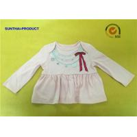 Buy cheap Fashion Necklace Screen Print Tee  Long Sleeve Envelop 100% Cotton Baby Girl Top from wholesalers