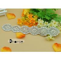 Wholesale Large Stock Silver Crystal Beaded Trim Applique With Pearl from china suppliers