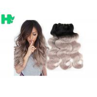 Buy cheap 16 Inch Brazillian Human Remy Hair Extensions , Black Body Wave Hair from wholesalers