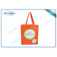Buy cheap Durable And Recycle Pp Non Woven Fabric Bags With Logo Priniting , Tote Bag With Long Handle from wholesalers