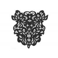 Buy cheap Black Big Size Back Velvet Polyester Thread Crochet Collar Free Pattern Geometric Shape from wholesalers