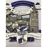 Wholesale 3Dcar badge .Sport pin ,emblem  badges Custom Badges  size be in 90mm  plating antique bronze , hang with V shape ribbon from china suppliers