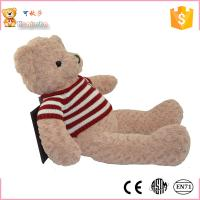 Buy cheap Hot selling promotion brown color 100 cm teddy bear with cloth special offer for toys store from wholesalers