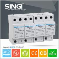 Buy cheap 4 Pole white Power Surge protector 20kA - 40kA 220V low voltage from wholesalers