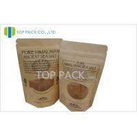 Offset Printing Salt Kraft Paper Stand Up Pouch With Custom Window Manufactures