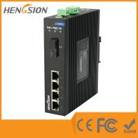 Buy cheap 4 Megabit Ethernet / 1 Megabit FX 5 Port Network Switch Din Rail product