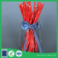 Red color paper drink straws health and environmental protection