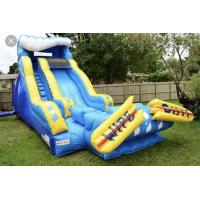 Buy cheap Giant Blow Up Water Slide / Children'S Inflatable Slides Easy Storage from wholesalers