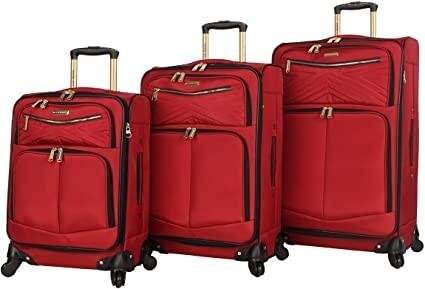 Quality 3 Piece Softside Expandable Lightweight Spinner Suitcase Set for sale