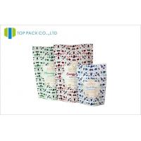 Buy cheap Matte finished Ziplock stand up pouches for food  , custom zipper pouches from wholesalers
