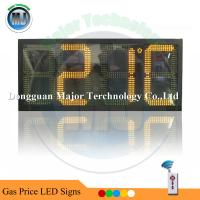 Buy cheap RF Remote Control  Amber LED Time and Temperature Sign for Outdoor USage from wholesalers