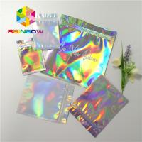 Buy cheap Reusable Mylar Ziplock Cosmetic Compact Packaging Hologram Laser Gravure Printing from wholesalers