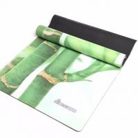 Buy cheap Custom printed earthing bamboo eco friendly micro- suede  sublimation printed yoga mats from wholesalers
