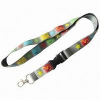 Buy cheap Polyester Lanyards, Customized Designs, Colors and Logos are Welcome, 200 Pieces MOQ from wholesalers