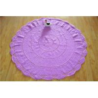 Buy cheap Cotton Round Blankets Hand Crochet Throw Rug Custom Rug from wholesalers