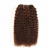 Buy cheap Pre-Colored Mixed Brown Human Hair Brazilian Hair Weave Afro Kinky Wave  Hair Extensions P4/30 from wholesalers