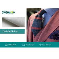Wholesale White Polyester Tie Interlining Fabric For Silk Tie Shrink Resistant from china suppliers