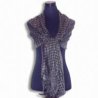 Wholesale Scarves/Scarf in Unique Design, Made of Silk and Pashmina, Available in Various Colors from china suppliers