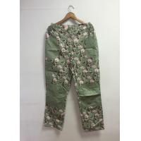 Buy cheap Floral Printed Cotton Custom Working Clothes Long Work Pants For Women from wholesalers