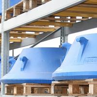 Buy cheap Symons Liner high manganese steel casting cone crusher bowl liner mantle and concave replacement crusher parts from wholesalers