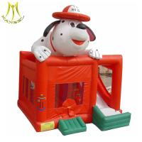 Buy cheap Hansel commercial dog design inflatable bouncy castles with slides from wholesalers