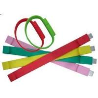 China CE, ROHS Colorful USB Silicone wristbands, thick silicone bracelets for girl on sale