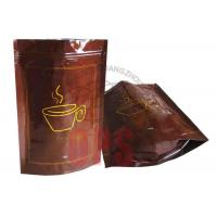 Buy cheap Small Resealable Plastic Zipper Bags Packaging , Coffee Stand Up Pouch from wholesalers