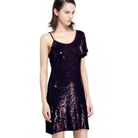 Sequin Embroidery Bling Bling Party Dresses , One Shoulder Club Dress Going Out for sale