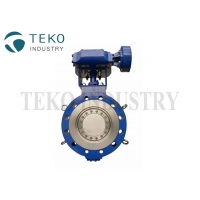 Buy cheap Gear Operated Metal Seated Hardness Three Offset Stainless Steel Butterfly Valve from wholesalers