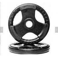 Buy cheap Rubber Weight Plates With Three Handles , 2.5-60kg Cast Iron Weight Plates from wholesalers