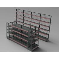 Buy cheap Custom Height Supermarket Display Racks Double Sides Department Store Snacks Wire Net Decking from wholesalers