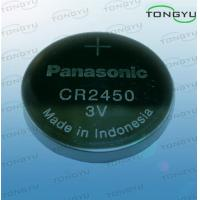 Buy cheap Panasonic 3V 620mAh Lithium Coin Cell Battery , Primary Lithium Button Cell CR2450 Battery from wholesalers