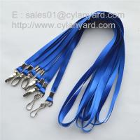 Buy cheap Discounted price metal crimp nylon straps with metal hook, promotional nylon lanyards, from wholesalers